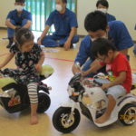 美里工業高校の生徒さん達よりバイク寄贈